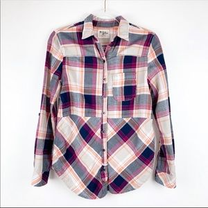 Anthropologie Holding Horses XS Plaid Button Down